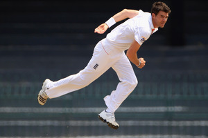 Impressive bowler James Anderson is the man who will lead England's attack against New Zealand. Photo / Getty Images