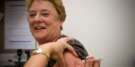 Singleton was one of the 612,376 people who received a free flu jab courtesy of the Government last year. Photo / Michael Craig
