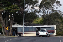 The scene of the bus crash in Manurewa, South Auckland. Photo / Richard Robinson
