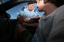 Acting Senior Sergeant Wayne Hunter said police targeted young drivers at the major Western Bay secondary schools last week. Photo / Joel Ford