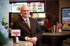 Andy Puzder, chief executive of CKE Restaurants, at the new Carl's Jr store in the Metro Centre, Queen St. Photo / Natalie Slade