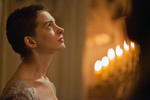 Anne Hathaway portraying Fantine in Les Mis. The actress has won critical acclaim for her role.Photo / Supplied