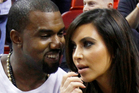 Kanye West and his girlfriend Kim Kardashian. Photo / AP