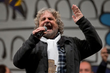 Beppe Grillo. Photo / AP