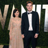 Actress Zooey Deschanel and writer Jamie Linden arrive at the 2013 Vanity Fair Oscars After Party. Photo / AP