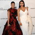 Kourtney and Kim Kardashian arrive at the 2013 Elton John Oscars After Party. Photo / AP