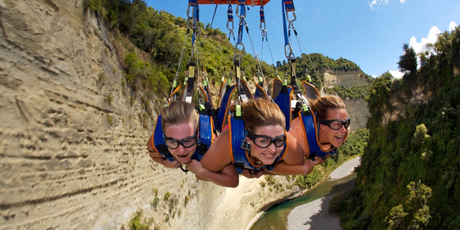 Mokai Gravity Canyon satisfies thrill-seekers with its flying fox. Photo / APN