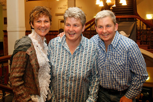 Entertainer and same-sex partner will join in civil union at their South Canterbury guest lodge Donna Luxton (left) and Lynda Topp (centre).  Photo/ Kenny Rodger