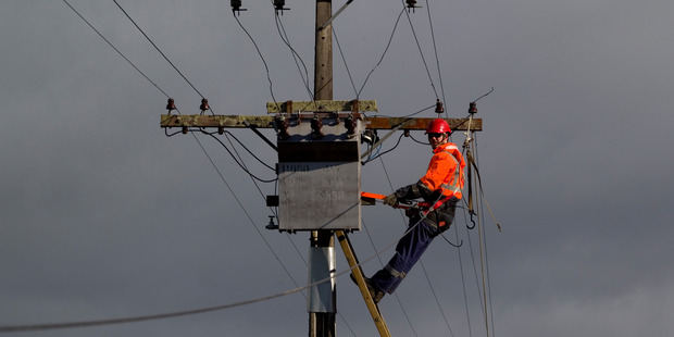 Orion's electricity network was damaged in the devastating Canterbury 2010 and 2011 earthquakes. Photo / Richard Robinson