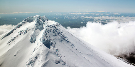Mount Taranaki's near-perfect cone offers a tempting challenge to climbers. It's a test of perseverance, and very satisfying to conquer.  Photo / Supplied