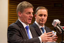 Bill English, with Prime Minister John Key. Photo / Mark Mitchell