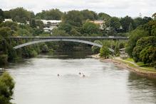 The Waikato River looking across to the Victoria Bridge on Bridge Photo / Christine Cornege.