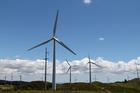 Turbines at Meridian's  Te Apiti wind farm, near Woodville. Photo / Wairarapa Times Age
