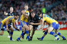 Captain Tim Mannah is confident the Eels' attack will fire after scoring just 14 points in their past two trials. Photo / NZPA