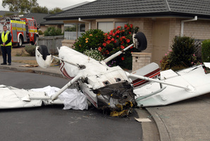 The Cessna aircraft which collided with a helicopter in 2008. Photo / File