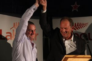 Labour MP Trevor Mallard and leader David Shearer. Photo / Andrew Bonallack