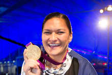 Olympic Gold medallist Valerie Adams. Photo / Greg Bowker