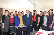 PM John Key with members of the Social Entrepreneurs School. Photo