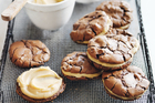 Salted caramel brownie sandwich cookies. Photo / Donna Hay Magazine