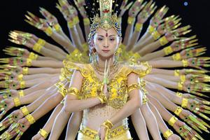 The Thousand Hands of Buddha Dance in Beijing, China. A scene from Ron Fricke's 'Samsara'. Photo / Supplied
