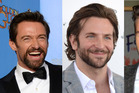 Hugh Jackman, Bradley Cooper and David Beckham. Photo / AP