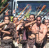 Maori warriors lead a procession involving a 26-tonne Maori carving being transported from Te Puia to the Rotorua International Stadium for Te Matatini. Photo / The Daily Post