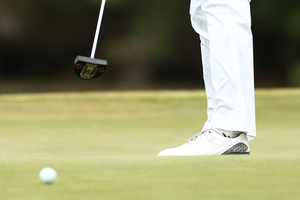Players who use anchor long putters could be adversely affected by a ban. Photo / Getty Images