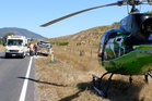 The helicopter airlifted the man to Rotorua Hospital. Photo / Taupo Rescue Helicopter