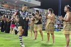 Benji Marshall leads the Kiwis out. Photo / Getty Images