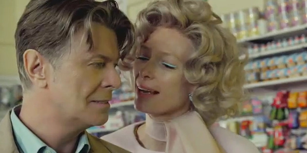 David Bowie and Tilda Swinton in the video for 'The Stars (Are Out Tonight)'. Image / YouTube