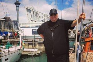 Kim Dotcom today in Auckland. Photo / Twitter / Kim Dotcom