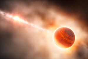 An artist's impression of the new planet. Image / ESO/L. Calcada