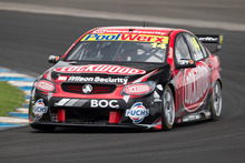 Fabian Coulthard in action during the first official test of the new 2013 V8 Supercar season. Photo / Mark Horsburgh.