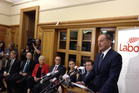 David Shearer announces the reshuffle of Opposition portfolios. Photo / NZ Herald