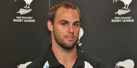 Simon Mannering speaks to media after being named the new captain of the Kiwis. Photo / Getty Images
