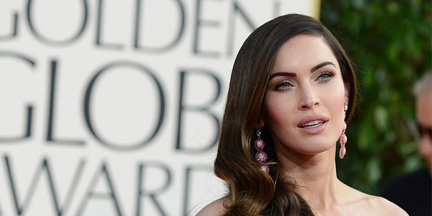 Megan Fox at the Golden Globe Awards. Photo/AP