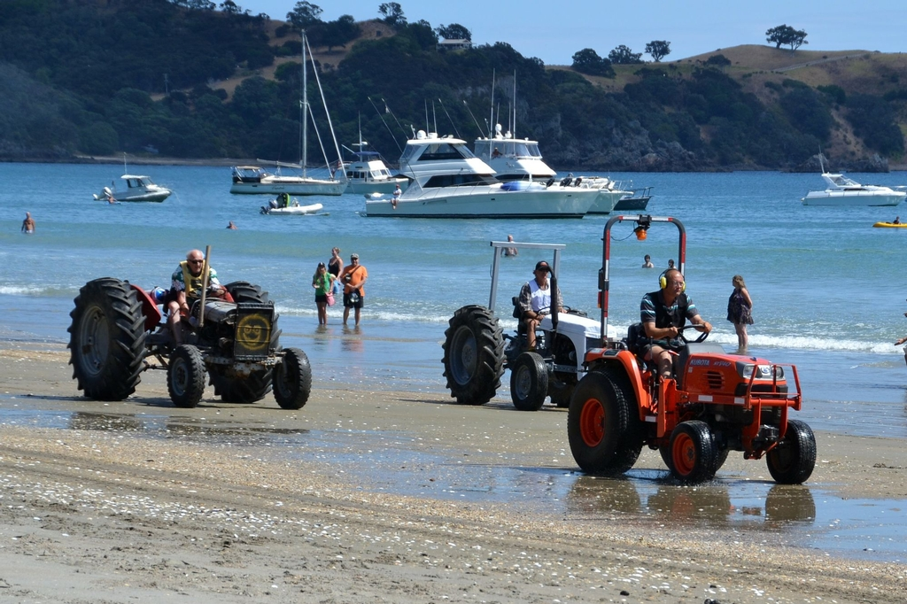 All the action from the Onetangi Beach Race on Waiheke, Auckland.
