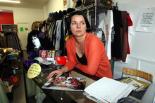 Orphans Aid Op-shop manager Gabriela James was robbed while working at the central Hastings charity store on Monday.