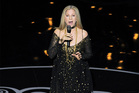Barbra Streisand performs at the Oscars. Photo/AP