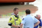 In total 18 pupils were rescued from the water and nine taken to Dunedin Hospital. Photo / Peter McIntosh