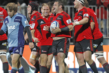 The Crusaders and Blues have played 21 times, with the Crusaders ahead on 12 wins. Photo / Getty Images