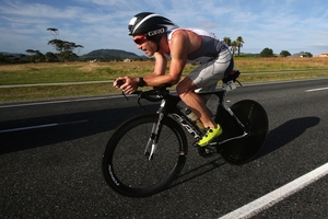 Cameron Brown showed maturity to notch up his 10th win in the Port of Tauranga half ironman. Photo / Getty Images