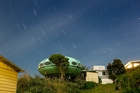 The Futuro house in Raglan is heading to Christchurch. Photo / Michael Craig
