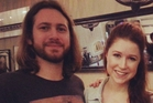 Arnaud Sabard and Hayley Westenra had been together for three years before marrying in Canterbury on Sunday.