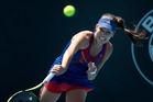 Serbia's tennis poster girl Ana Ivanovic is careful to avoid the white lines on court, a superstition even she struggles to cope with. Photo / Brett Phibbs