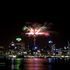 Fireworks explode over Auckland City. Photo / Dane Hawker