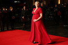 British actress Kate Winslet when she was pregnant with Bear. Photo / AP