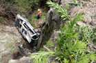 The van driven by Sandeep Singh is thought to have gone over the cliff