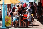 NOT AN ISSUE: Most patrons don't mind paying the 10 per cent to 15 per cent surcharge imposed on public holidays.PHOTO/RUTH KEBER