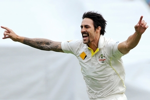 Mitchell Johnson has destroyed England's top order, and South Africa's on the menu next. Photo / AP